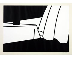 Patrick Caulfield, Curtain and Bottle, screenprint, 1973