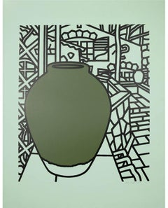 Patrick Caulfield, Jar (Green), screenprint, 1974