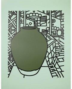 Patrick Caulfield, Jar (Green), screenprint, 1974