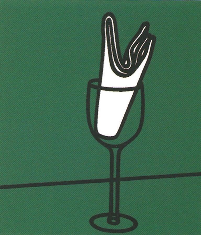 Son mouchoir me flattait sur le Rhin - 20th Century, Patrick Caulfield, Print - Blue Still-Life Print by Patrick Caulfield
