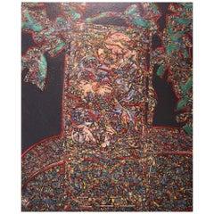 Patrick Danion, Painting, Acrylic on Wood, 1987