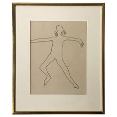 PATRICK DOLAN Pencil on Paper, 'Dancer', 1963