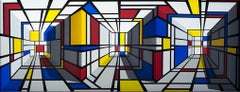 Patrick Hughes - All Over, optical art, reverspective, mondrian, illusion