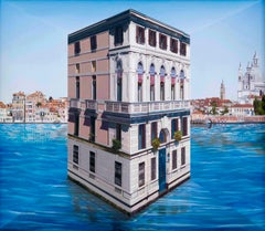 Patrick Hughes - Little Palace, optical art, reverspective, venice, landscape