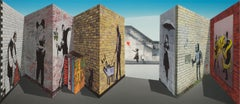 Patrick Hughes - Banksy, contemporary, graffiti, op art, optical, reverspective