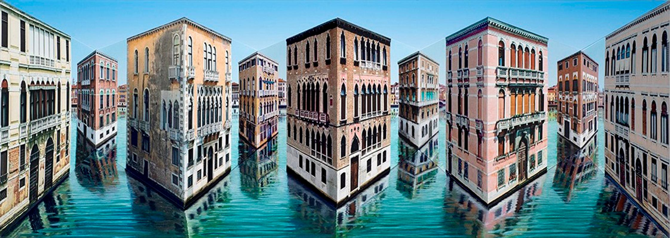 Patrick Hughes - In and out, Venice, landscape, italy, op art, reverspective