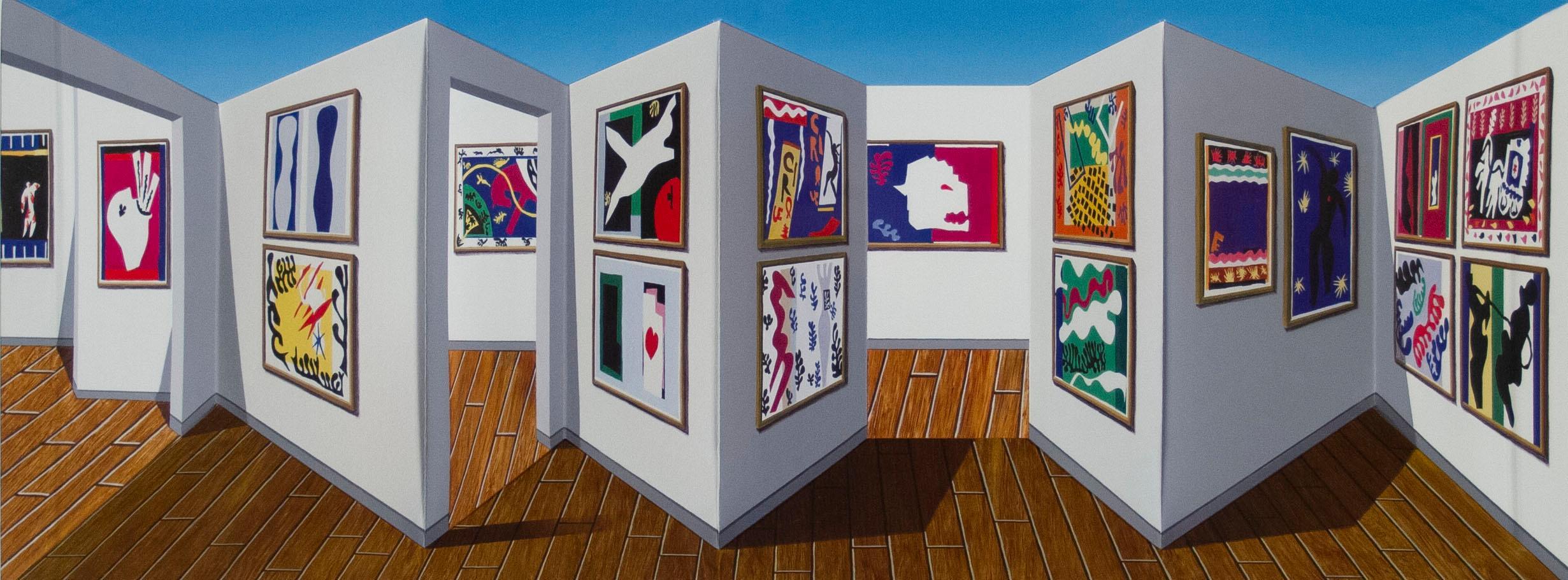 Patrick Hughes - Jazz, contemporary, op art, optical, reverspective, matisse