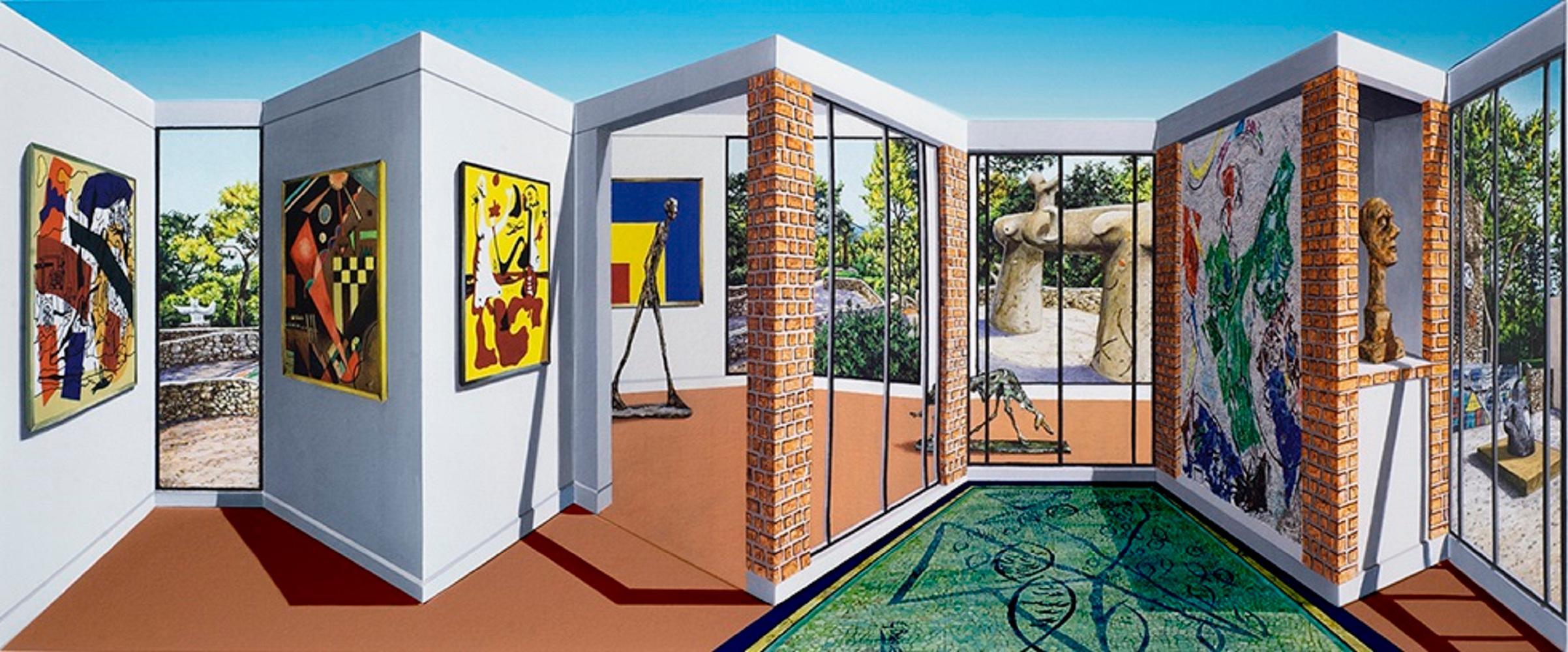 Patrick Hughes - Maeght, contemporary, op art, optical, reverspective, fondation