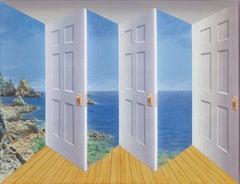 Patrick Hughes - Outdoors, contemporary, op art, optical, reverspective, doors