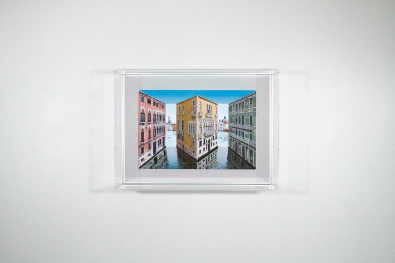 Patrick Hughes - Palazzina, venice, landscape, italy, op art, reverspective - Op Art Print by Patrick Hughes