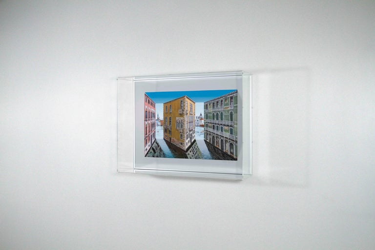 Patrick Hughes (b.1939) Palazzina 2019 hand painted multiple with archival inkjet 46 x 62 x 17 cm  edition of 75 plus 10 AP  Price: £4,800 GBP (inc. 20% UK VAT)  Provenance: Direct from the artist's studio  Notes: This work is presented in a perspex