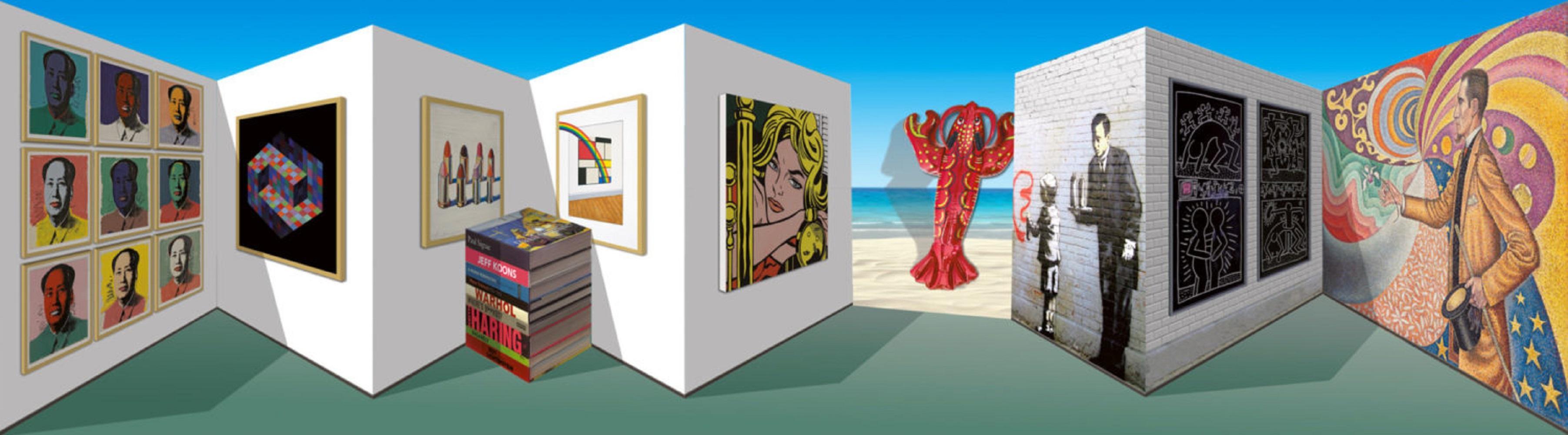 Patrick Hughes - Popsee, contemporary, op art, optical, reverspective, artworks