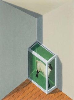 Patrick Hughes - Sheep, contemporary, op art, optical, reverspective, hirst