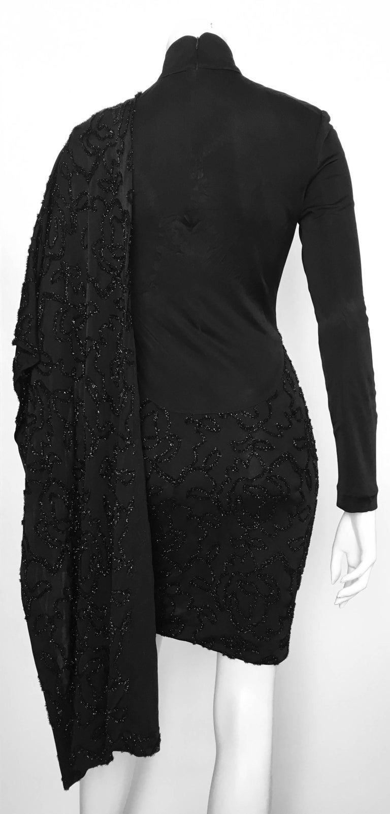 Women's or Men's Patrick Kelly 1980s Black Cocktail Dress Size 4 / 6.  For Sale