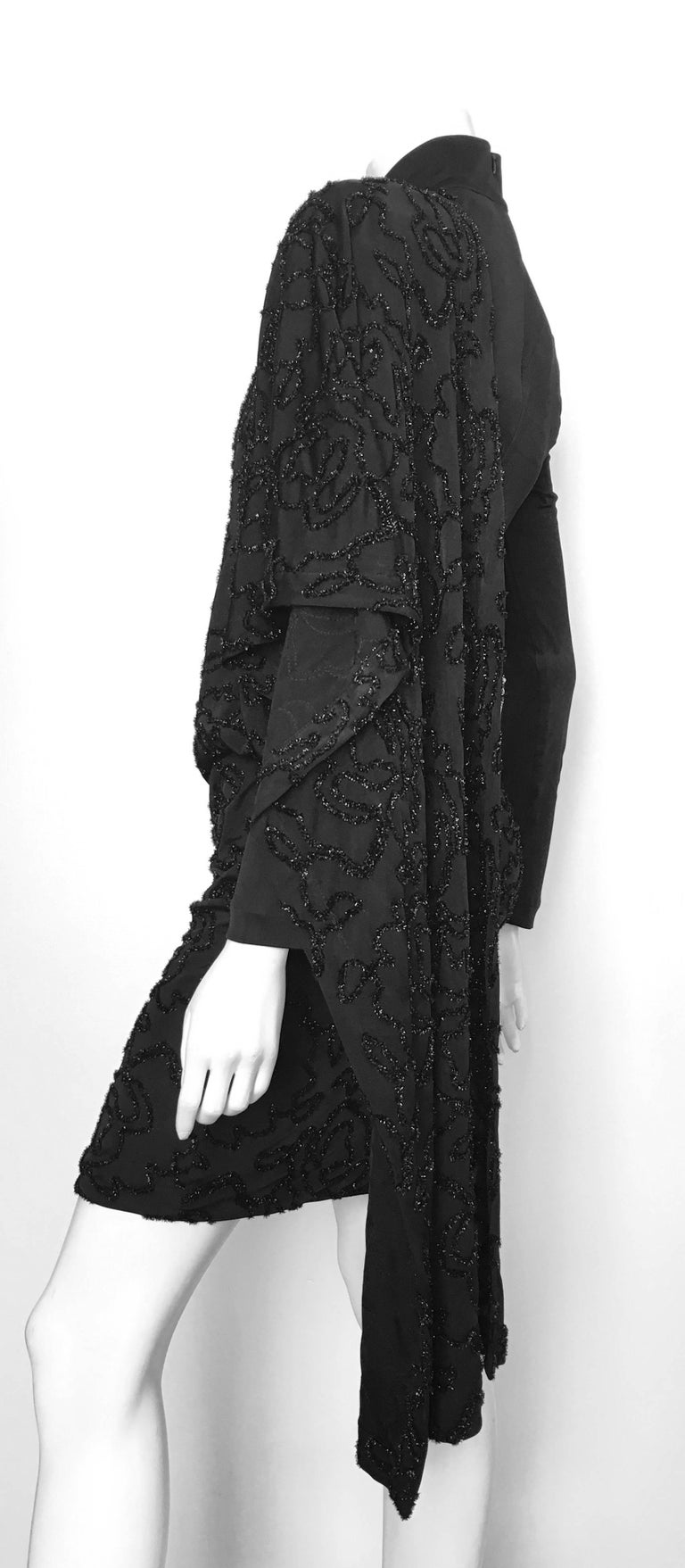 Patrick Kelly 1980s Black Cocktail Dress Size 4 / 6.  For Sale 1