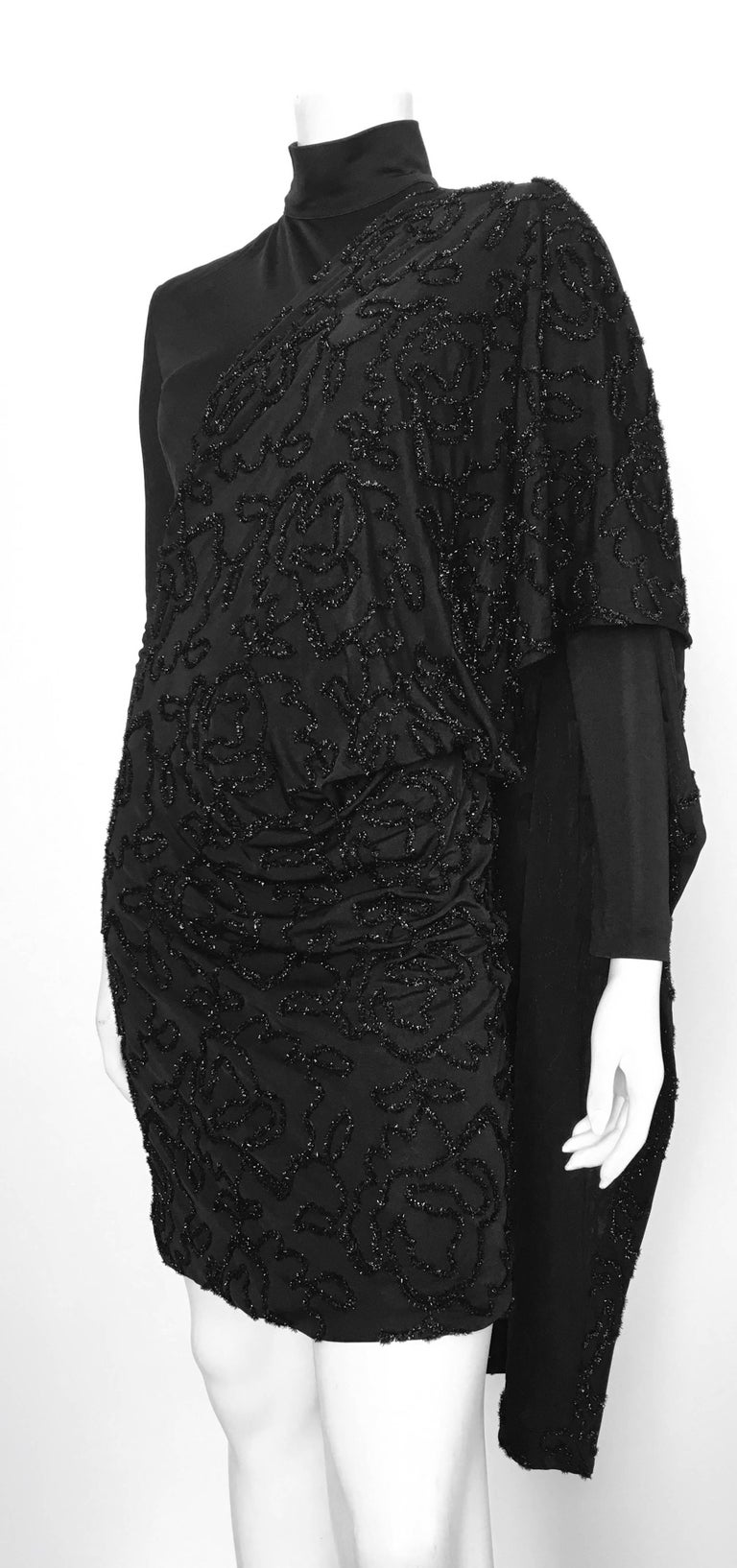 Patrick Kelly 1980s Black Cocktail Dress Size 4 / 6.  For Sale 2