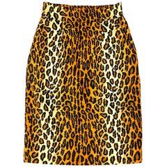 Patrick Kelly Amen Wardy Leopard Pencil Skirt