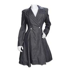 Patrick Kelly Black Denim Peat Coat