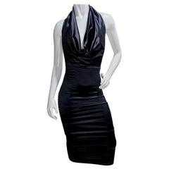 Patrick Kelly Black Halter Dress