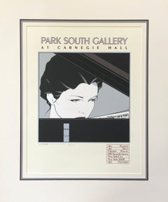 Patrick Nagel 'Park South Gallery at Carnegie Hall' Limited Edition Signed Print