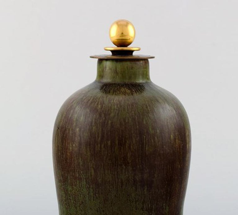 Danish Patrick Nordstrøm / Carl Halier for Royal Copenhagen, Lidded Stoneware Vase For Sale