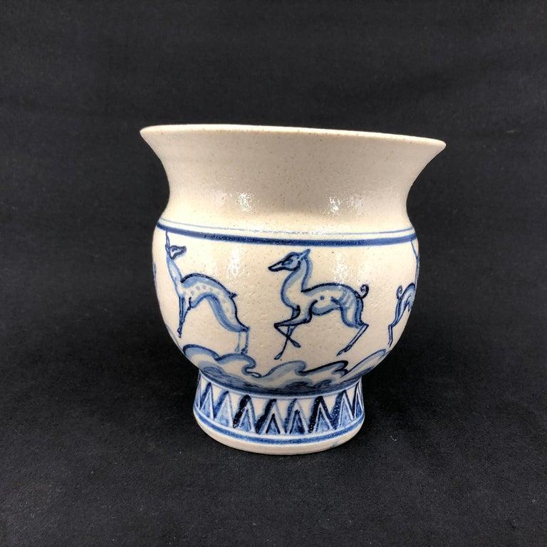 Women's or Men's Patrick Nordstrøm Vase Decorated by Viola Borsi For Sale