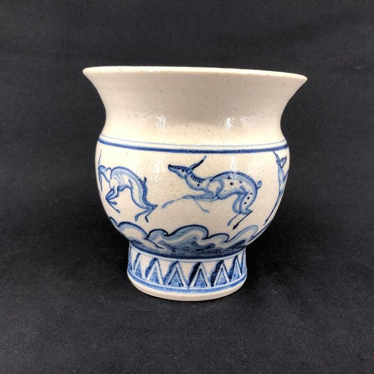 Patrick Nordstrøm Vase Decorated by Viola Borsi For Sale 1