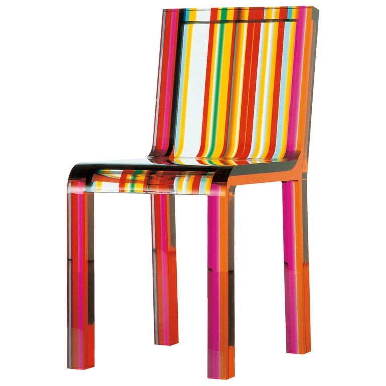 Patrick Norguet Rainbow Chair in Acrylic Resin for Cappellini For Sale