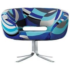 Patrick Norguet Rive Droite in Pucci Cotton Blue Fabric for Cappellini