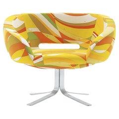 Patrick Norguet Rive Droite in Pucci Cotton Orange Fabric for Cappellini