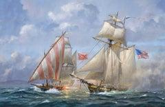 USS Enterprise Battling the Barbary Pirates, 1801
