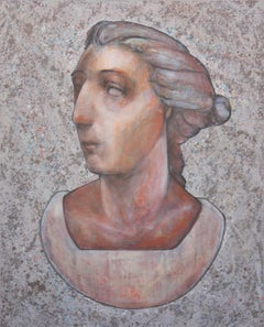 """""""Juno"""" Woman's Bust Contemporary Painting"""