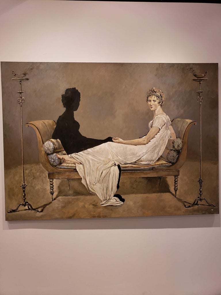 Conversation - Modern Painting by Patrick Pietropoli