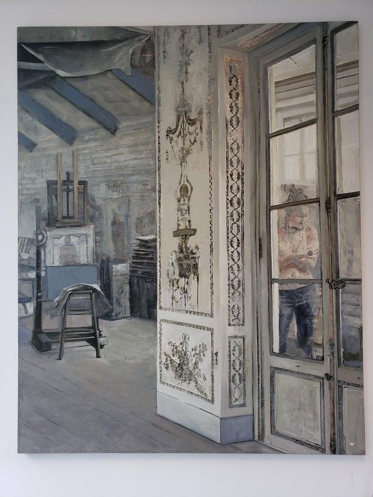 La Pose - Modern Painting by Patrick Pietropoli