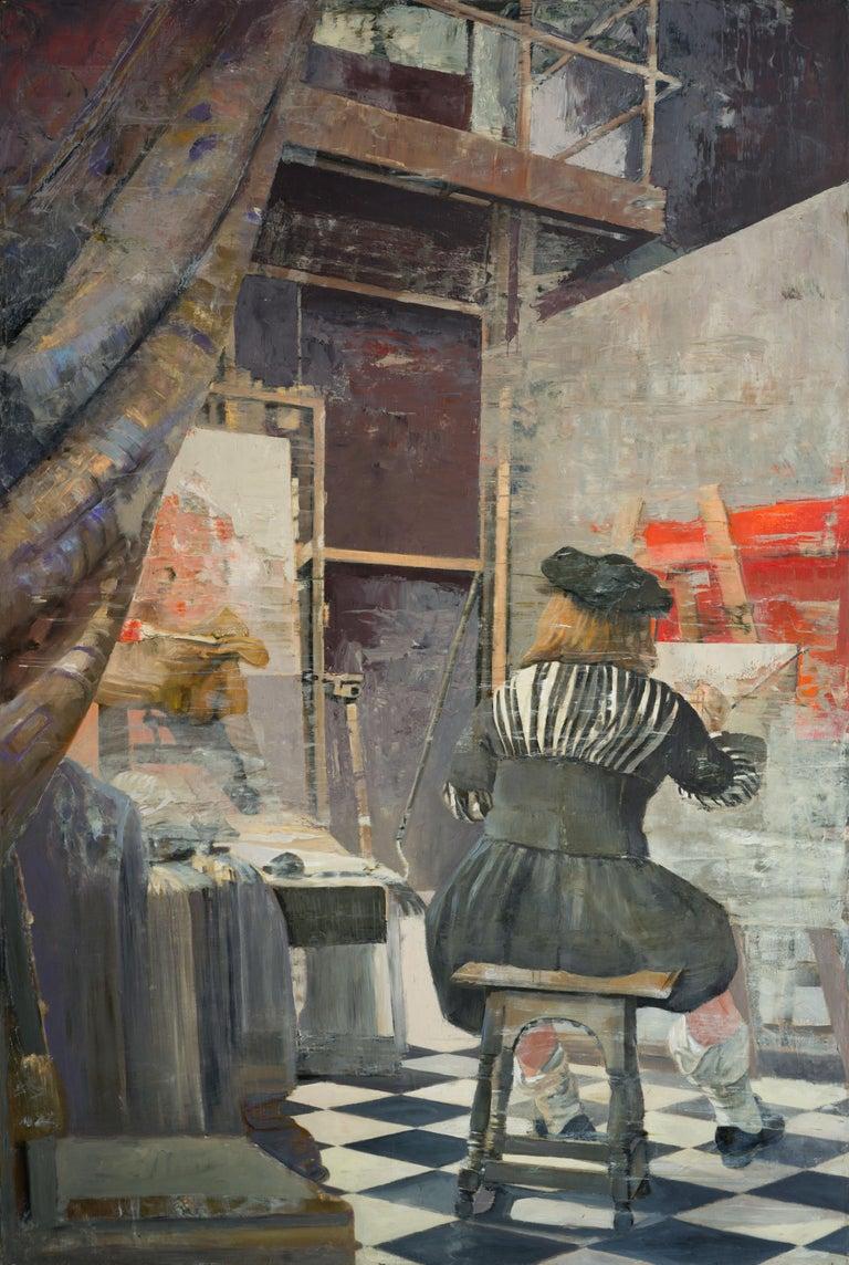 Vermeer at work - Painting by Patrick Pietropoli