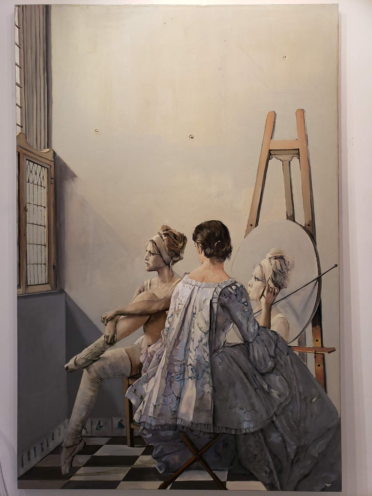 Vermeer's Studio - Modern Painting by Patrick Pietropoli
