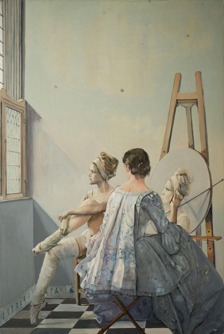 Vermeer's Studio - Painting by Patrick Pietropoli