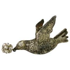Patrick Retif Vintage Jewelled Bird Brooch
