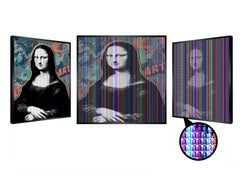 Blushing Mona, 2020, Kinetic - Mixed Media with 22 carat Gold Leaf