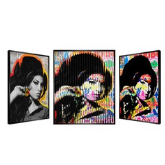 "People & Brand ""Amy Winehouse"", Kinetic Artwork on Panel"