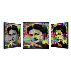 """People & Brand """"Frida Kahlo"""", Kinetic Artwork on Panel"""