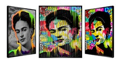 "People & Brand ""Frida"", Kinetic Artwork on Panel"