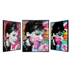 "People & Brand ""Hepburn"", Kinetic Artwork on Panel"