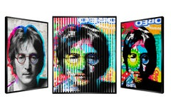 "People & Brand ""Lennon"", Kinetic Artwork on Panel"