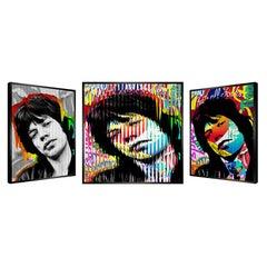 """People & Brand """"Mick Jagger"""", Kinetic Artwork on Panel"""