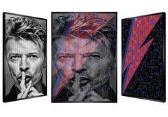 Super Bowie, Original Kinetic Artwork on Panel, Silver Leaf