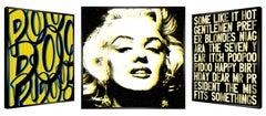 """Honey Glam"" - kinetic, pop art,  pop culture, Marilyn Monroe, love, art optic,"