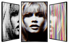 """Lady Bardot"" - kinetic, pop art,  pop culture, Brigitte Bardot, art optic,"