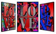 """""""Passion Red"""" -- kinetic, pop art, love, passion, red, pop culture, art optic,"""