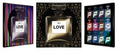 """Quel Luxe!"" -kinetic, pop art,  pop culture, chanel, perfume, love, art optic,"